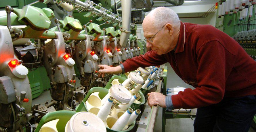 Maschinenvorführungen in der Museumsfabrik